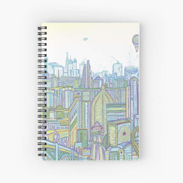 Megatropolis, Riddle District Spiral Notebook