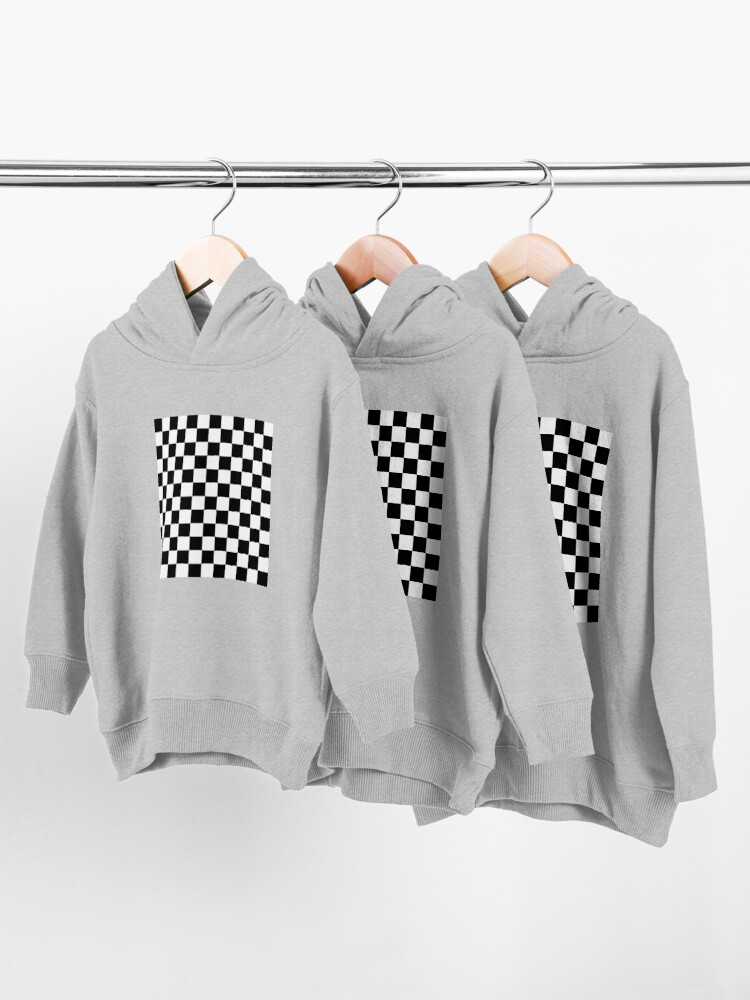 Alternate view of Checkered Black and White Toddler Pullover Hoodie