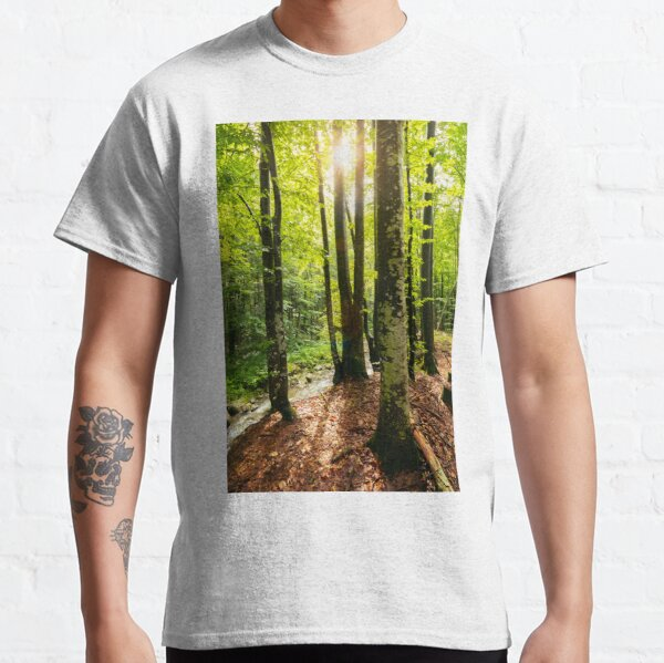 sunlight in summer forest Classic T-Shirt