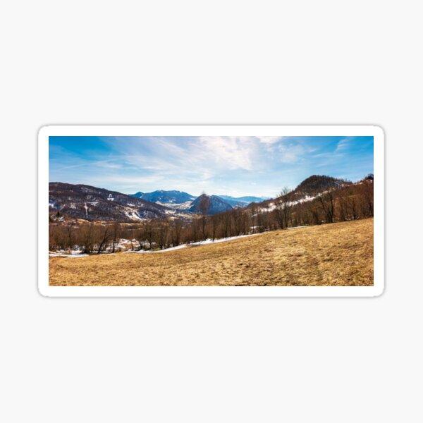 panorama of mountainous countryside in springtime Sticker