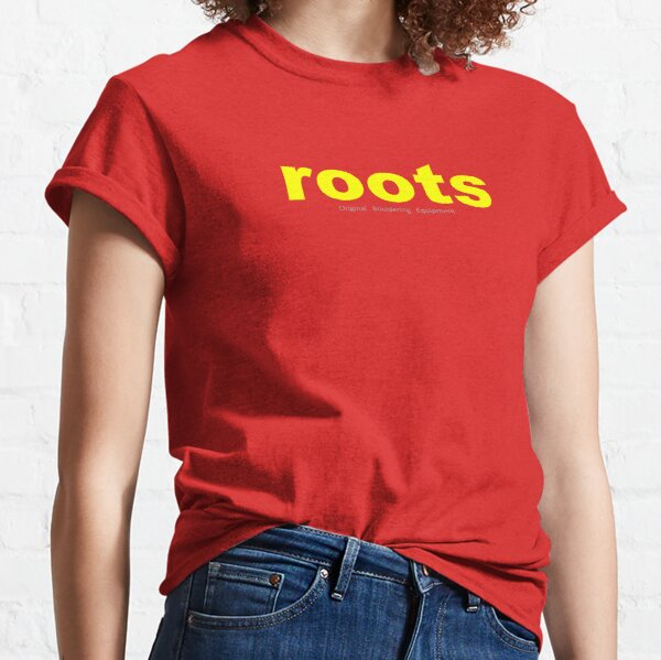 Yellow ROOTS CLIMIBING Logo Tee and Hoodies. Classic T-Shirt