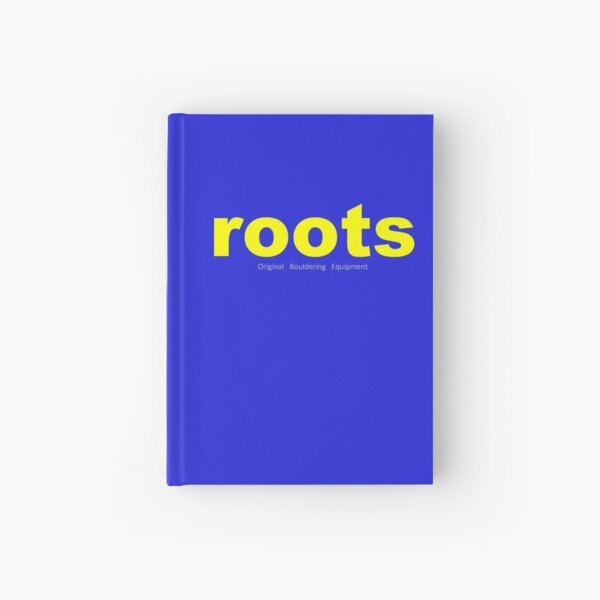 Yellow ROOTS CLIMIBING Logo Tee and Hoodies. Hardcover Journal