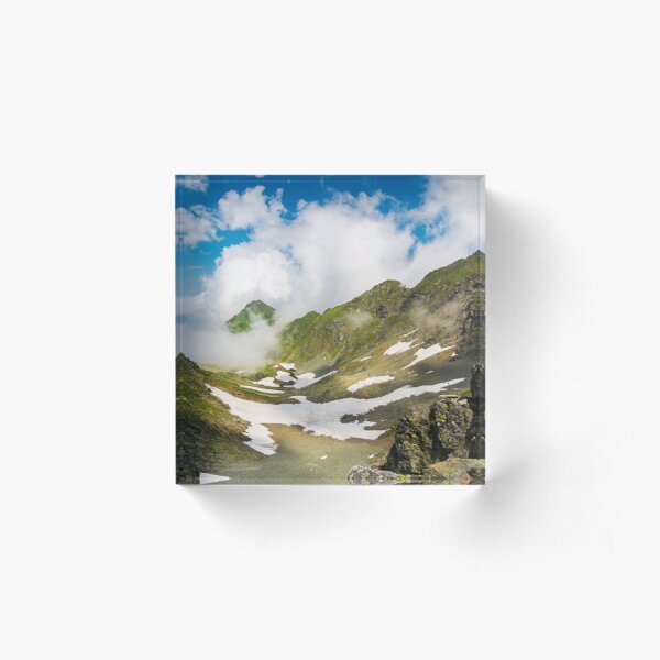 wonderful springtime scenery in mountains Acrylic Block