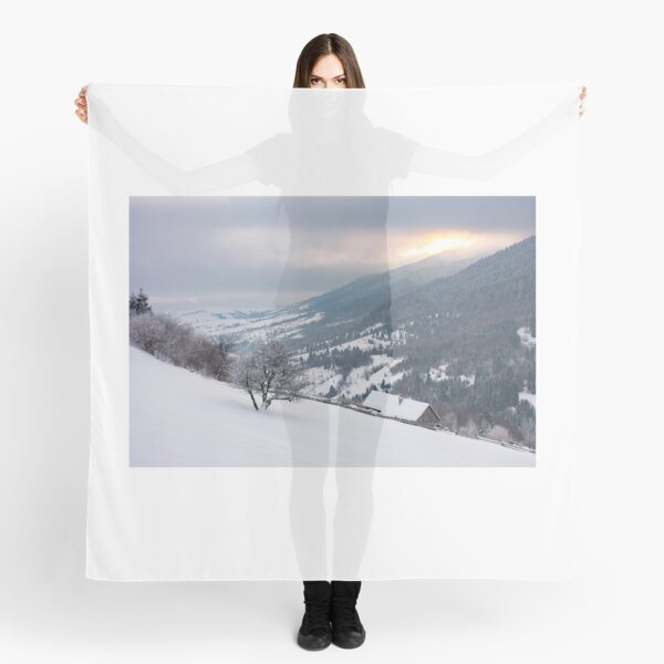 wonderful snowy countryside in mountains Scarf