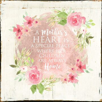 Typography A Mothers Heart by TerriEllisPhoto