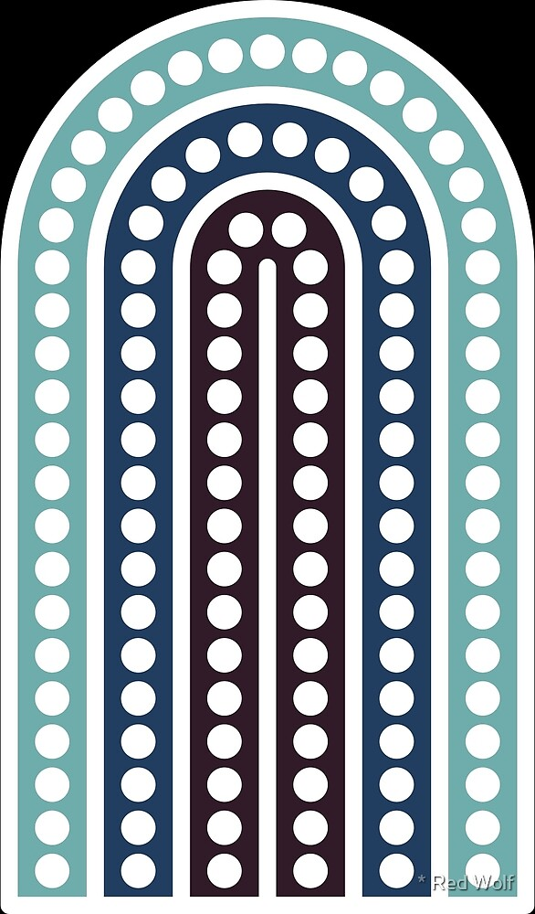 Geometric Pattern: Arch Dot: Moonlight by * Red Wolf