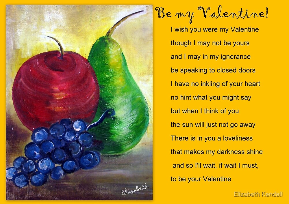 A card for Valentine's Day by Elizabeth Kendall