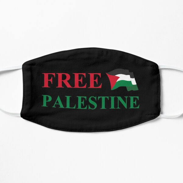 Free Palestine flag #2 Flat Mask