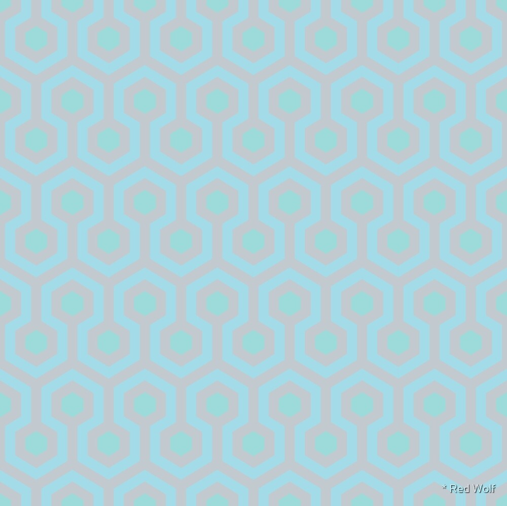 Geometric Pattern: Looped Hexagons: Abby by * Red Wolf