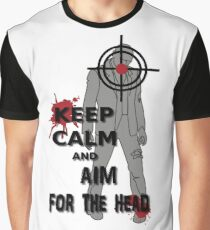Keep Calm and Aim For the  Head tshirt Graphic T-Shirt
