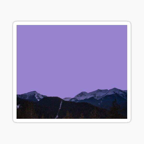 The Purple Mountain Sticker