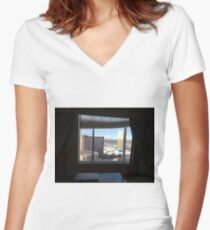 freelance view pt 1 Women's Fitted V-Neck T-Shirt