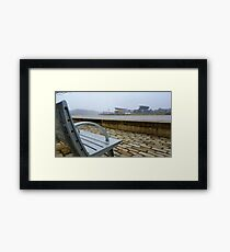 Steelers Football Bench View Framed Print