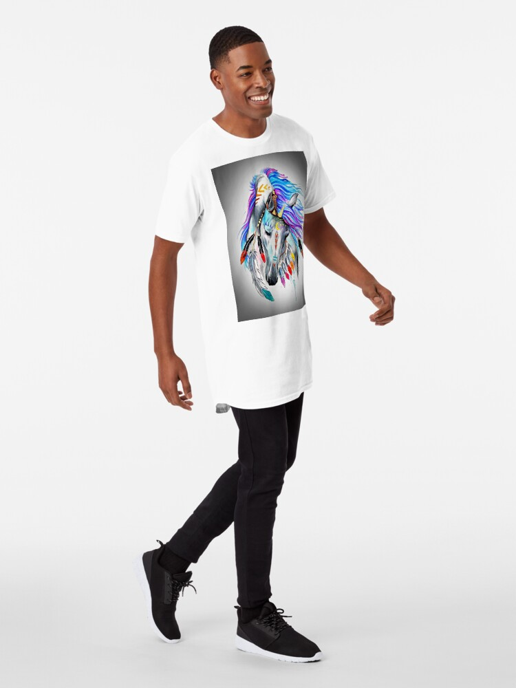 Alternate view of Native American  Horse Long T-Shirt