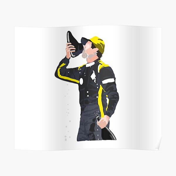 Daniel Ricciardo Shoey Art Poster