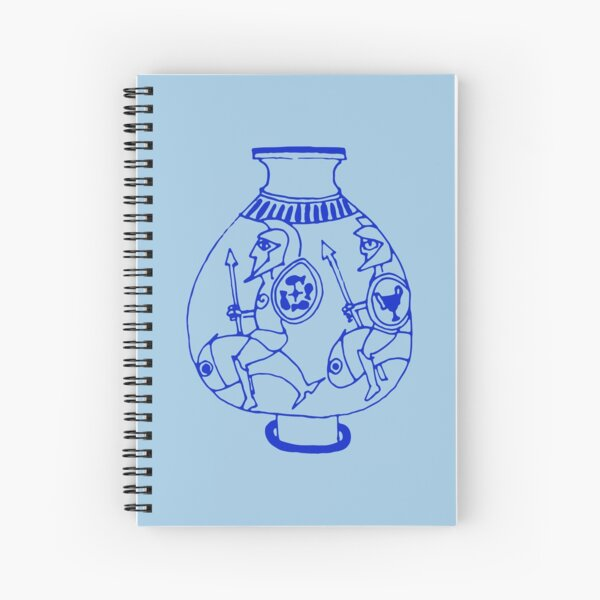 Greek pottery II: riding on fishes Spiral Notebook