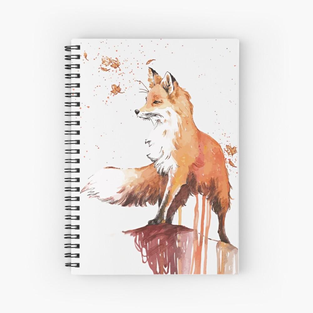 Beautiful Fox Spiral Notebook