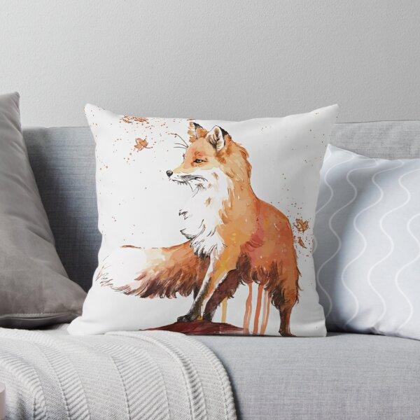 Beautiful Fox Throw Pillow