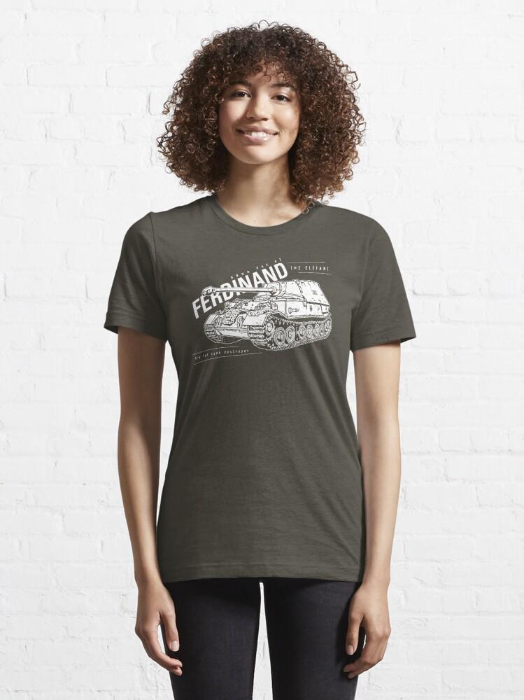 Alternate view of Ferdinand Tank Destroyer  Essential T-Shirt