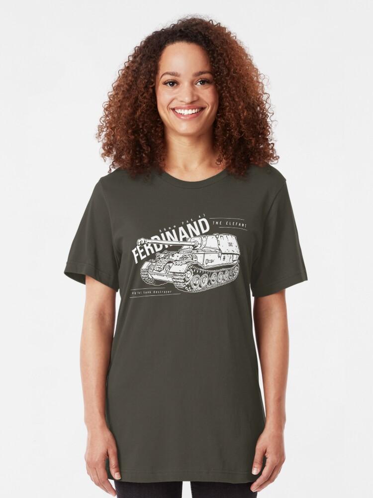 Alternate view of Ferdinand Tank Destroyer  Slim Fit T-Shirt