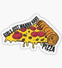girls just wanna have pizza Sticker
