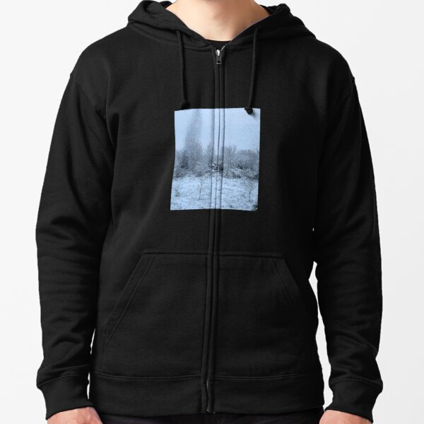 Snowy Winter Forest Zipped Hoodie