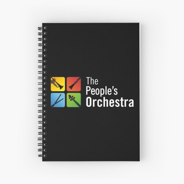 The People's Orchestra Logo FULL Design  Spiral Notebook
