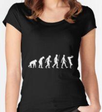 Human Evolution Parkour Evolution Women's Fitted Scoop T-Shirt