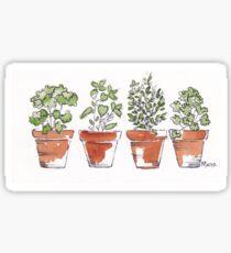Herbs in pots Sticker