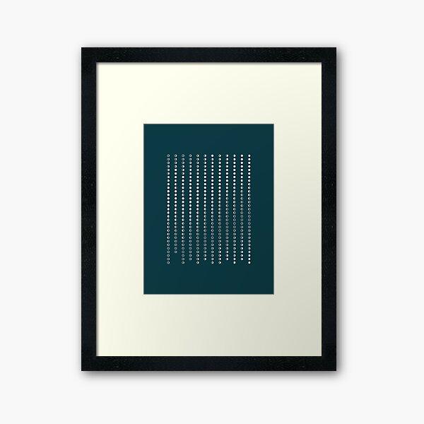 Lunar pattern Framed Art Print
