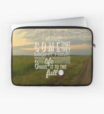 John 10:10 Full Life in Jesus Laptop Sleeve