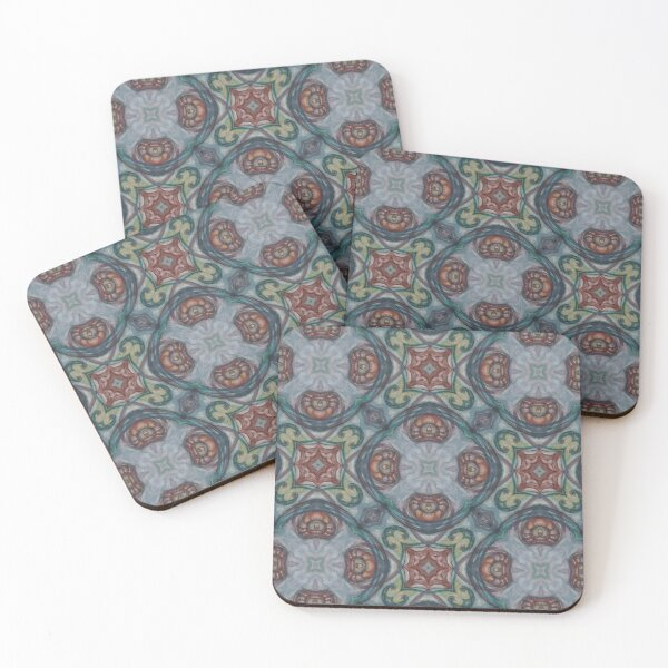 Cocktail Napkins Spanish Tiles Diamond Mexican Talavera Tile Ceramic Set of 4