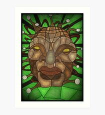 Face of Boe Stained Glass Art Print