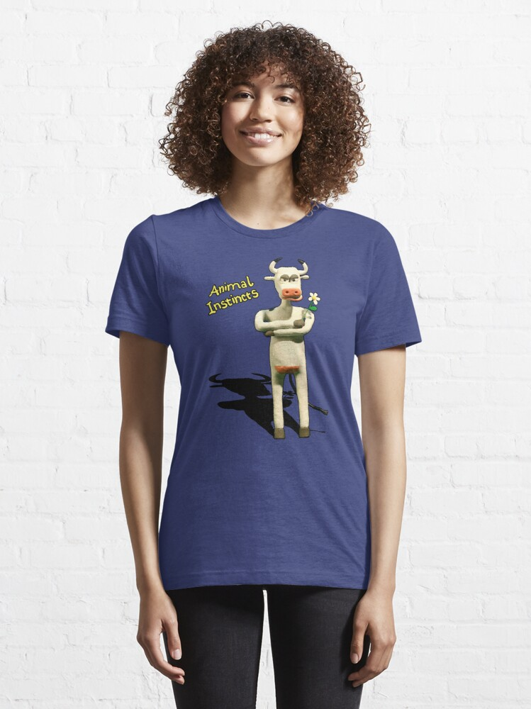 Alternate view of Animal Instincts - Cow Essential T-Shirt