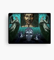 Weeping angels stained glass Canvas Print