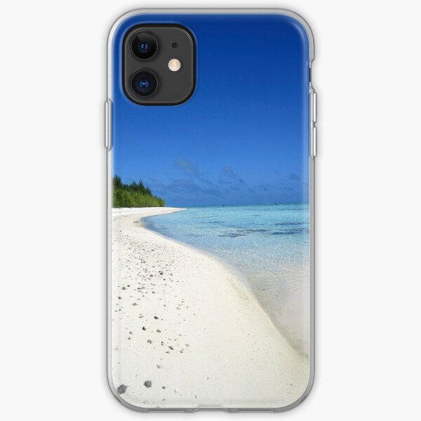 Deserted beach - Aitutaki iPhone Soft Case