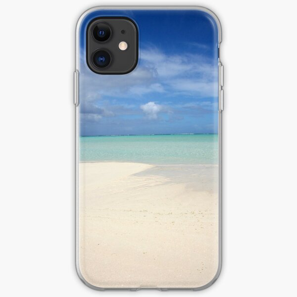 On Honeymoon Island, Aitutaki - Cook Islands iPhone Soft Case