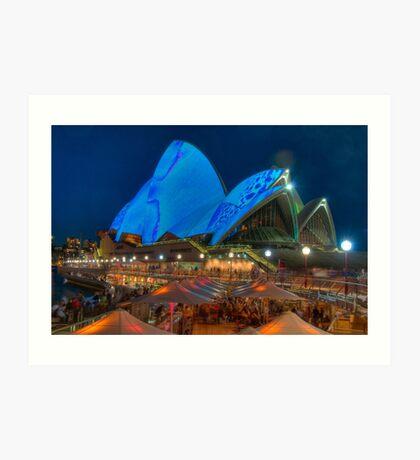 Luminous in Blue - Sydney Opera House Art Print