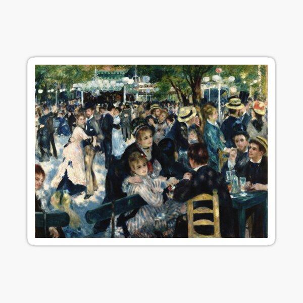 Bal du moulin de la Galette - Renoir ( Dance at Le moulin de la Galette) Sticker