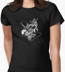 German Military Sidecar Womens Fitted T-Shirt