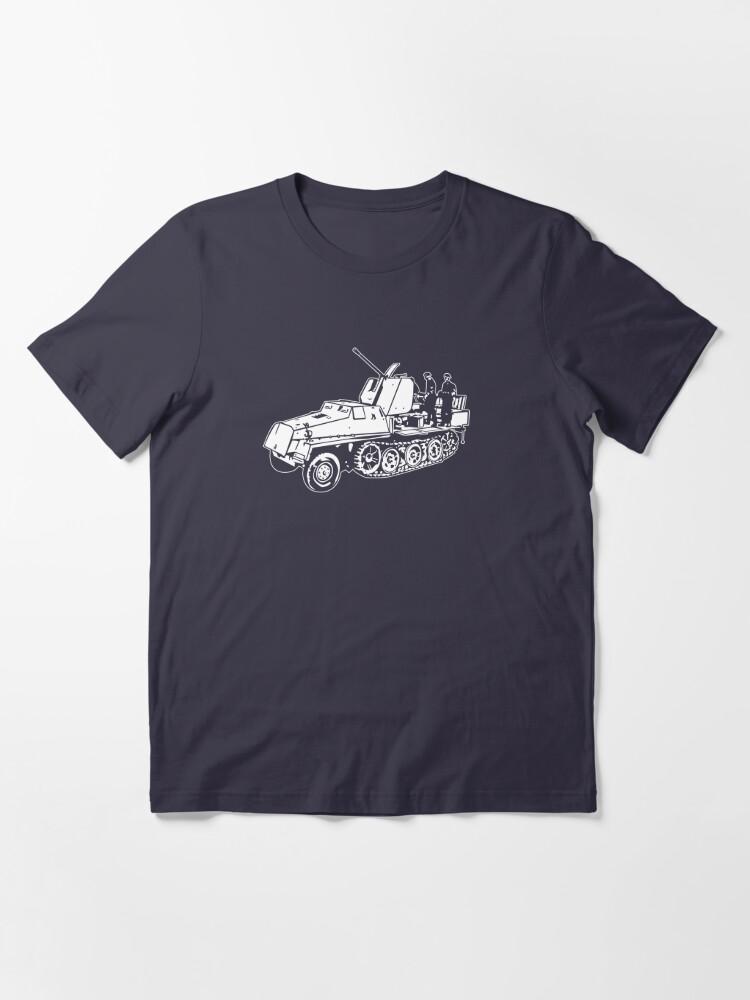 Alternate view of German Halftrack with Flak Gun Essential T-Shirt