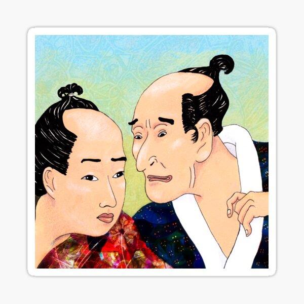Mr Hokusai and Mr Hiroshige Sticker