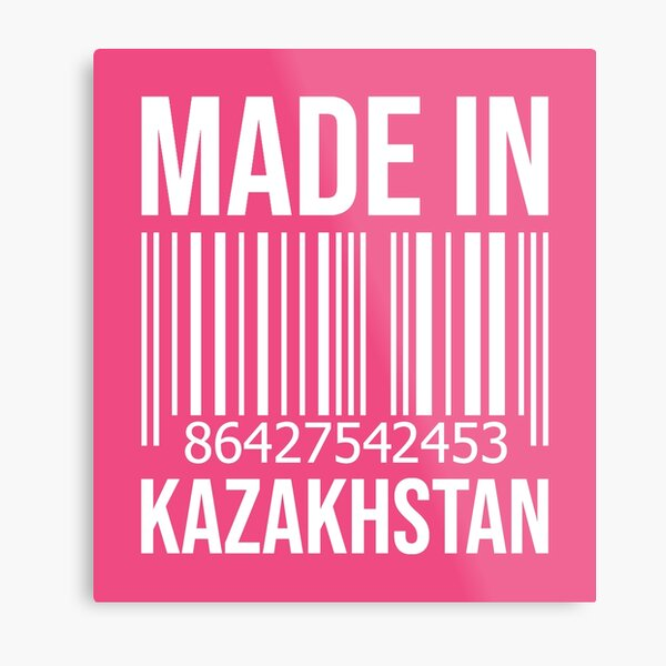 Made in Kazakhstan for Women Metal Print