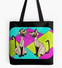 Bolsa de tela gatos siameses - villanos vidrieras