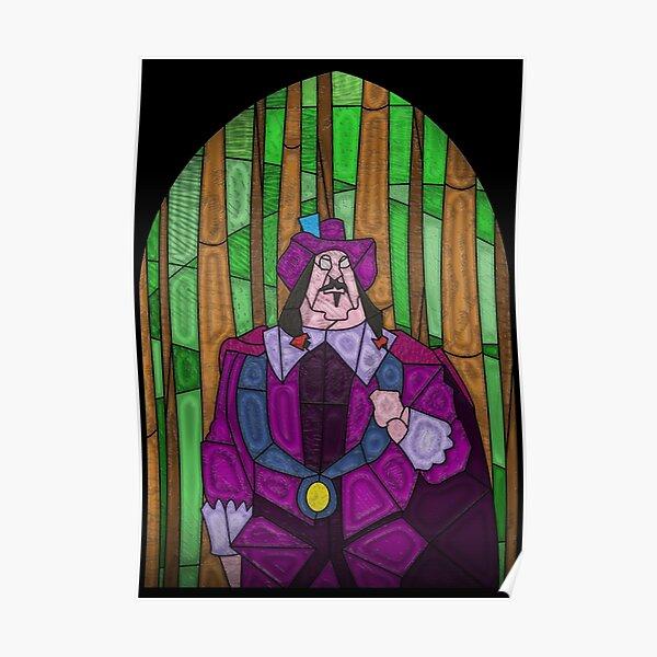 Disney Pocahontas John Smith Meko Raccoon Stained Glass Art