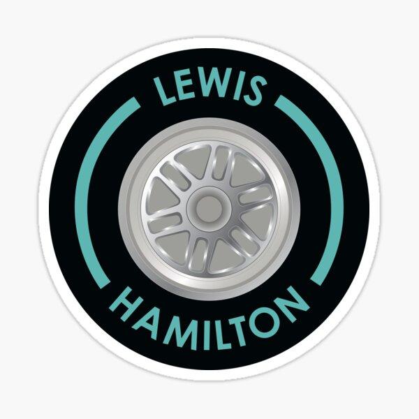 Lewis Hamilton Tire Sticker