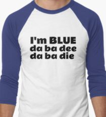 Blue Techno Party Music Dance Men's Baseball ¾ T-Shirt