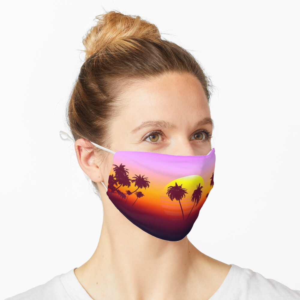 Palm Trees Sunset Mask