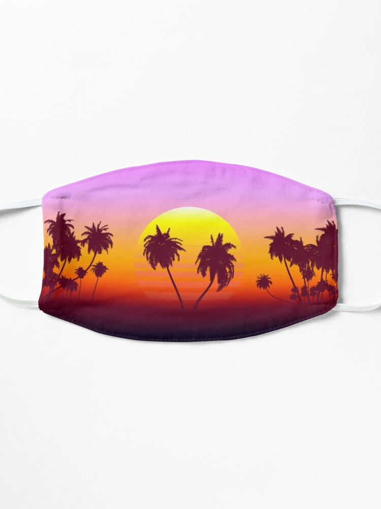 Alternate view of Palm Trees Sunset Mask