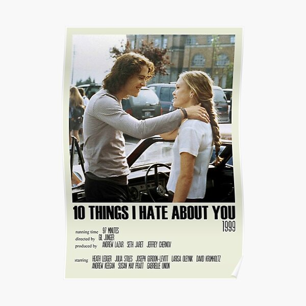 10 Things I Hate About You Alternative Poster